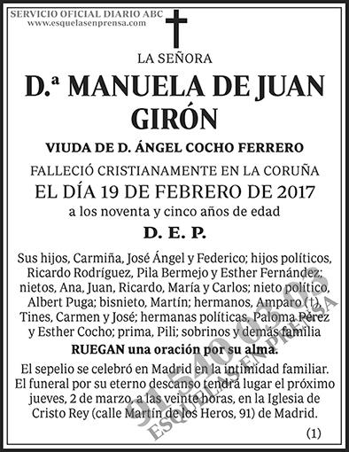 Manuela de Juan Girón